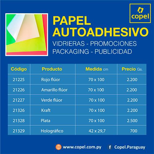 Copel. Seis modelos de papel autoadhesivo 70 x 100 cm